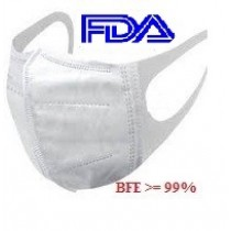 3D Stereo Medical Face Mask, white, BFE >=99%